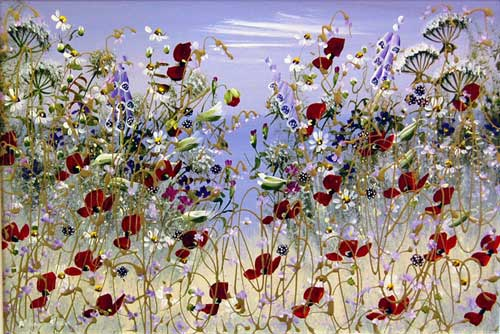 Buds & Bells - Painting by Mary Shaw