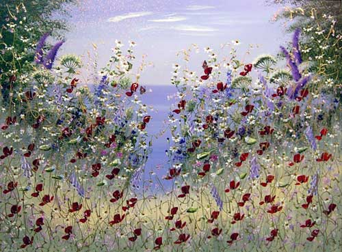A Burst of Summer - Painting by Mary Shaw