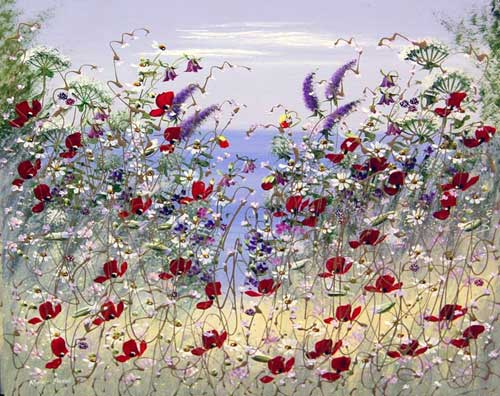 Sunkissed Petals - Painting by Mary Shaw