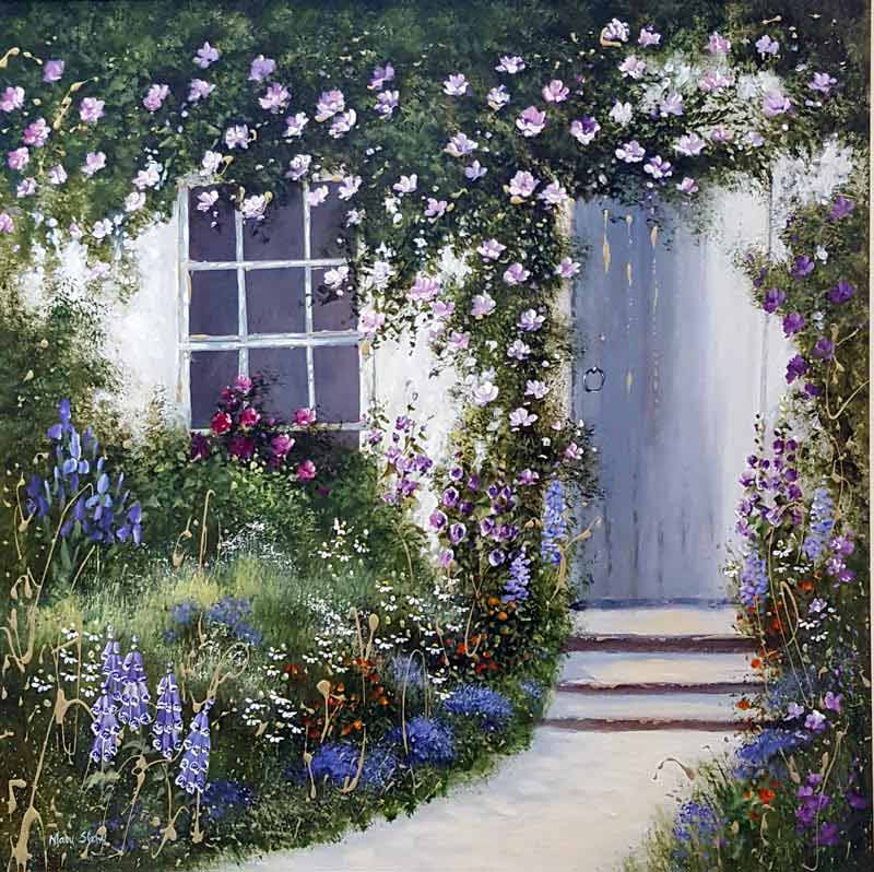 The Cottage Door - Painting by Mary Shaw