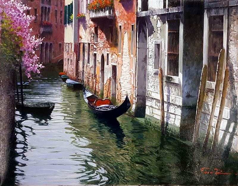 Blooming Waters - Painting by Raffaele Fiore