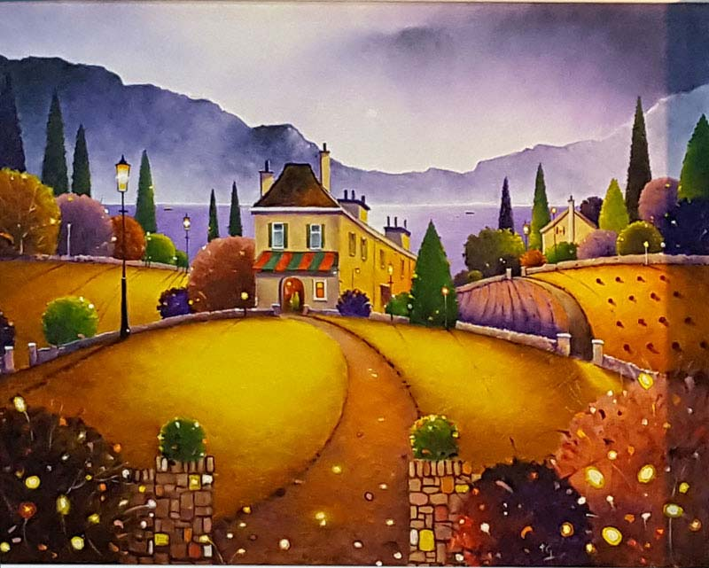 Casa D'amore - Painting by Tony Gittins