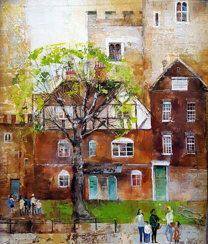 Queens House - Painting by Veronika Benoni