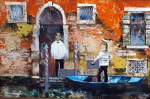 In Venice - Painting by Veronika Benoni