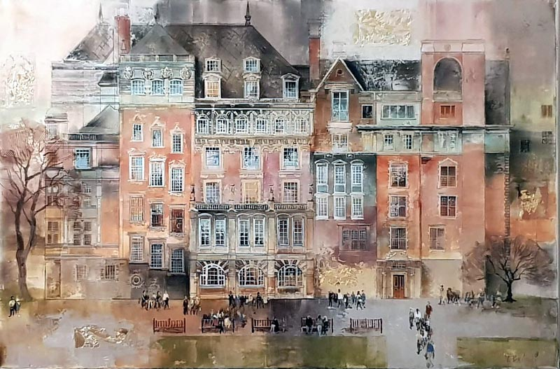 Westminster Quarter - Painting by Veronika Benoni